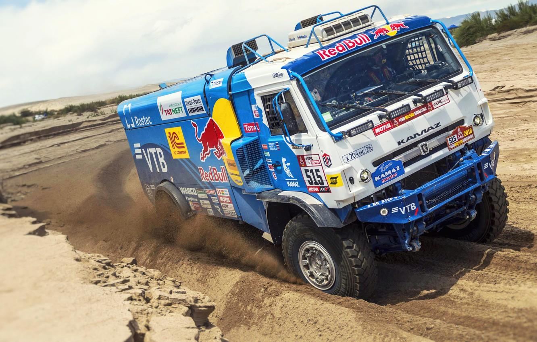 Photo wallpaper Sand, Sport, Truck, Race, Master, Russia, Cabin, Kamaz, Rally, Dakar, KAMAZ-master, Dakar, Rally, KAMAZ, The …