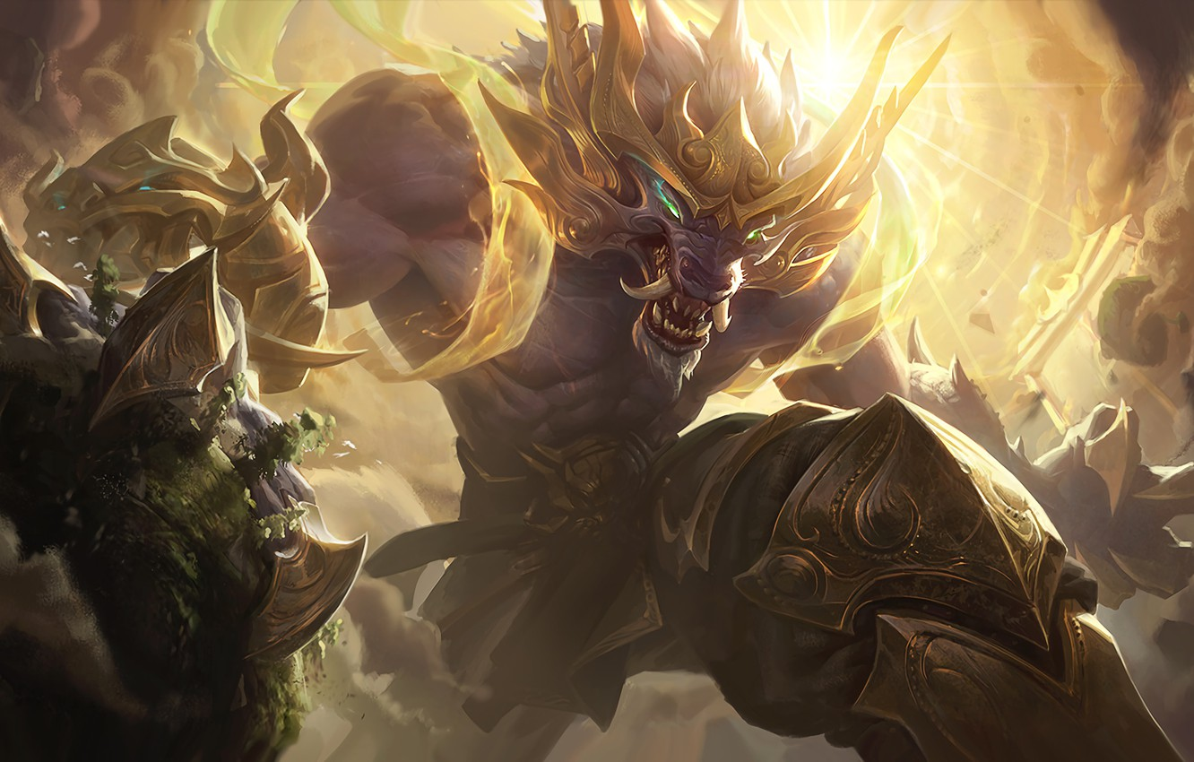 Photo wallpaper The game, Teeth, Fangs, Claws, Game, League of legends, LoL, League of legends, Riot Games, …