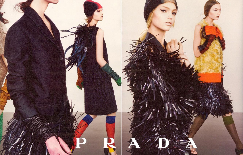 Photo wallpaper style, skirts, Pivovarova, prada