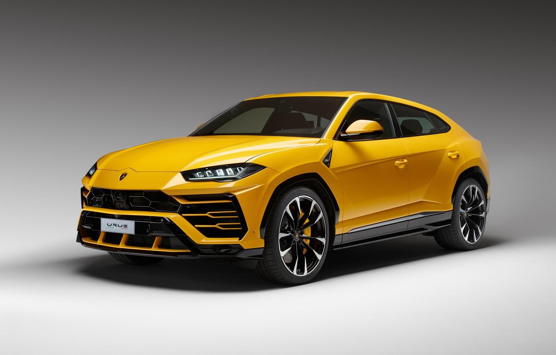 Photo wallpaper Lamborghini, yellow, 2018, Urus