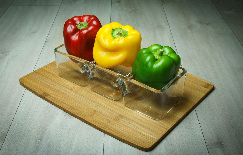 Photo wallpaper red, yellow, green, pepper, paprika
