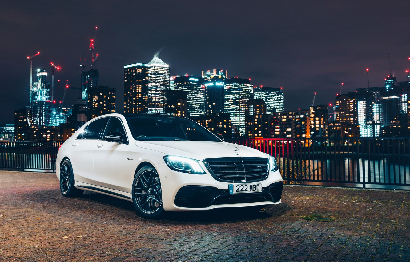 Photo wallpaper the city, Mercedes-Benz, AMG, S 63, 4MATIC, 2017