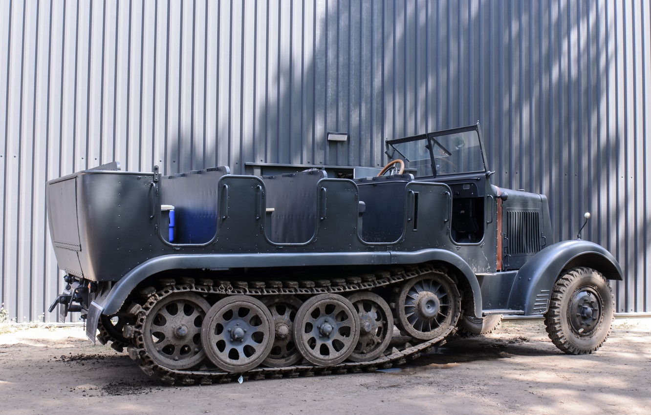 Photo wallpaper tractor, artillery, half-track, Sd Kfz 6, 5 tons, force, with traction