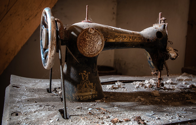 Photo wallpaper background, singer, sewing machine