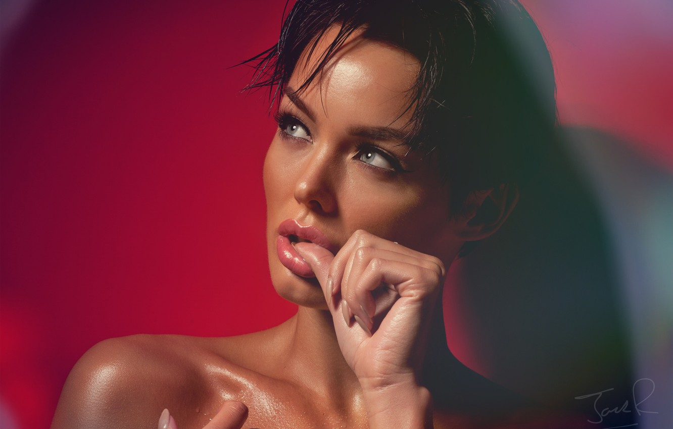 Photo wallpaper look, face, background, hand, shoulder, Rosie Robinson, Jack Russell