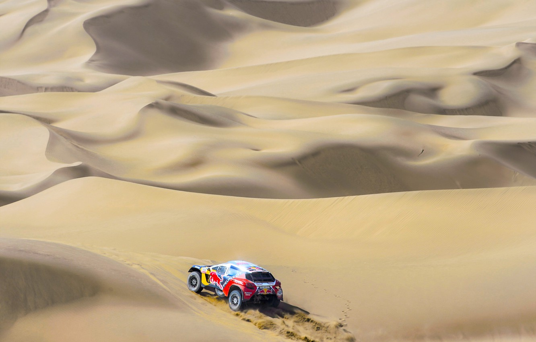 Photo wallpaper Sand, Sport, Speed, Race, Peugeot, Red Bull, Rally, Dakar, Dakar, Rally, Sport, Dune, DKR, 3008, …