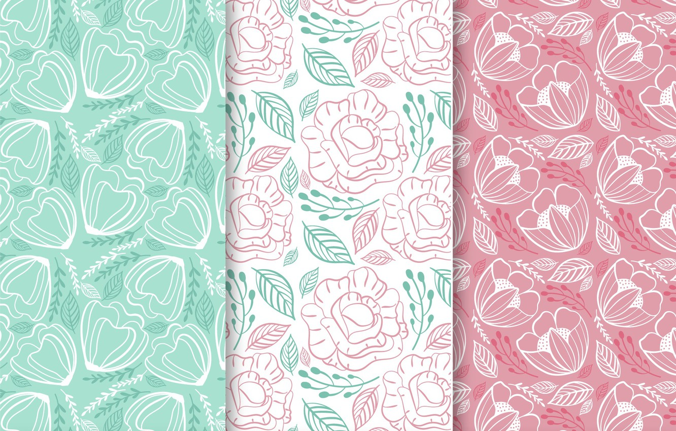 Photo wallpaper flowers, background, Wallpaper, colorful, flower, patterns