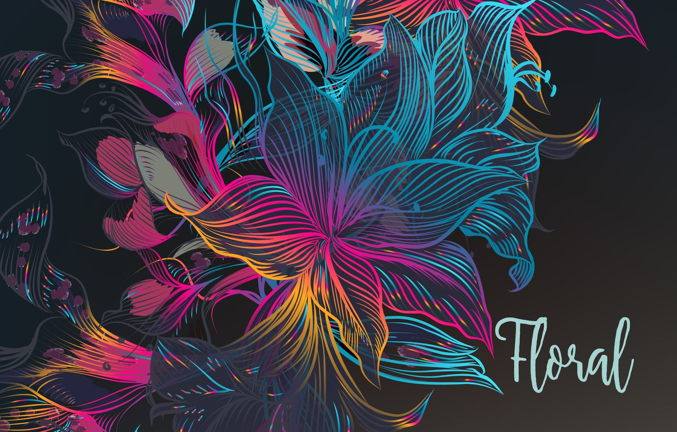 Photo wallpaper flowers, abstraction, background, the inscription, texture