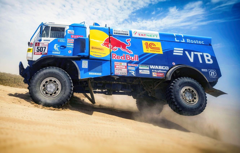 Photo wallpaper Sand, Wheel, Sport, Truck, Race, Master, Russia, Kamaz, Rally, Dakar, KAMAZ-master, Dakar, Rally, KAMAZ, 507, …