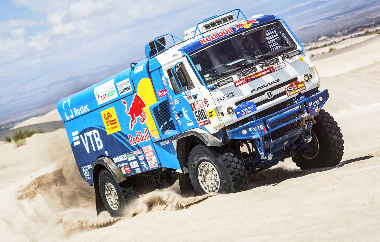 Photo wallpaper Sand, Sport, Truck, Race, Master, Russia, 500, Kamaz, Rally, Dakar, KAMAZ-master, Dakar, Rally, KAMAZ, The …