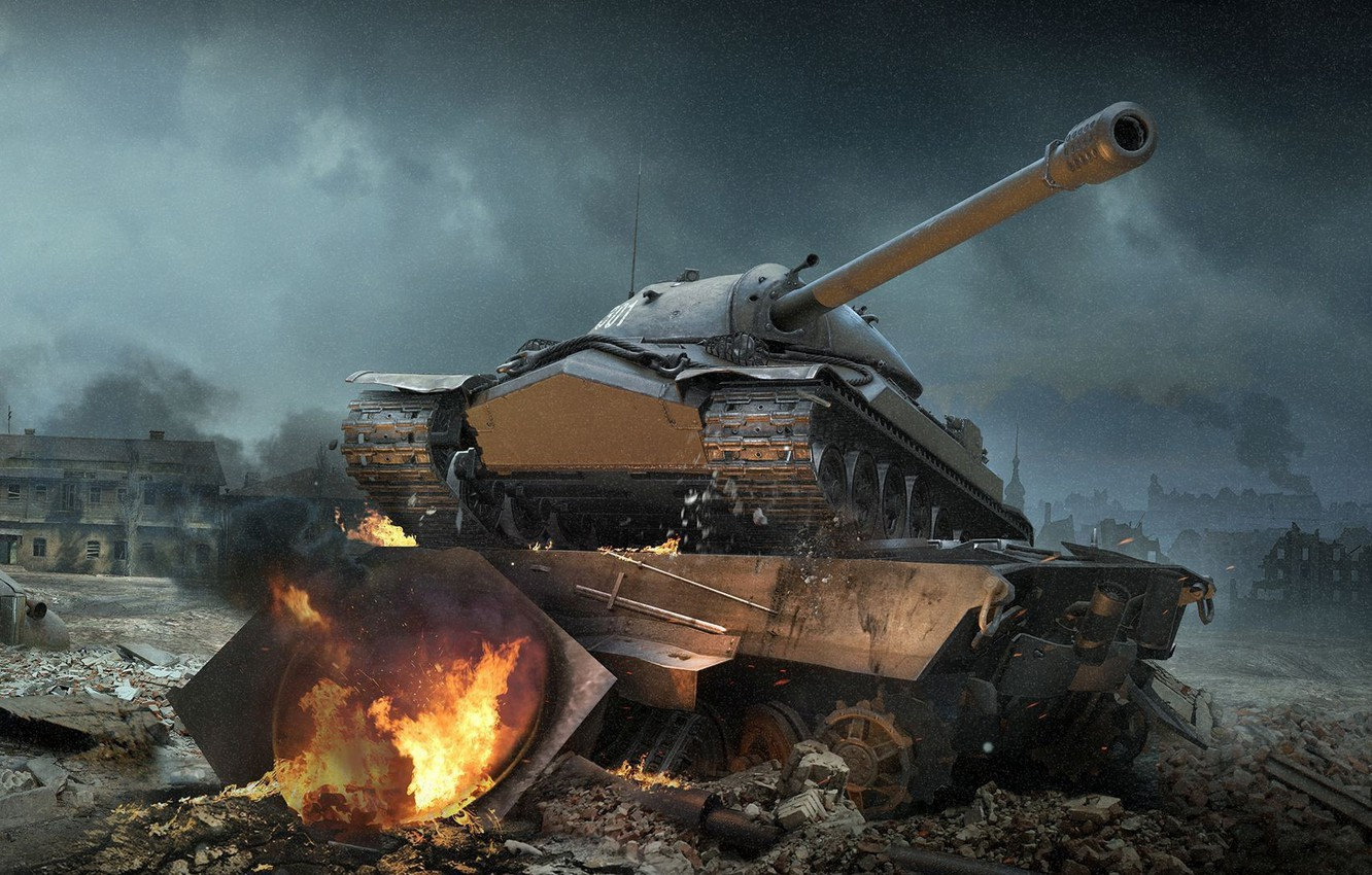Photo wallpaper WoT, Is-7, World of Tanks, World Of Tanks, Wargaming Net, IS-7