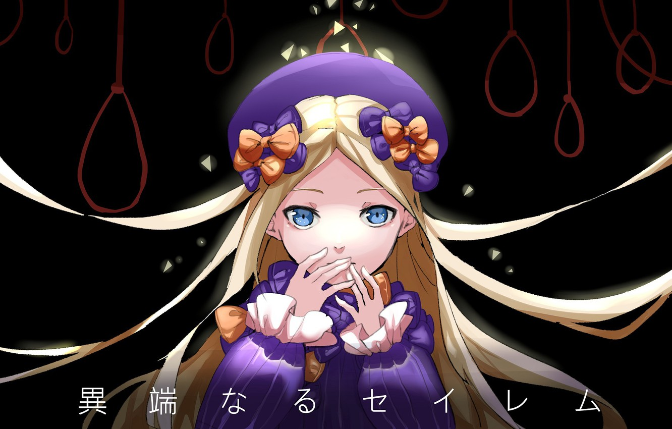 Photo wallpaper night, anime, art, girl, loop, Fate Grand Order, The destiny of a great campaign, Abigail …
