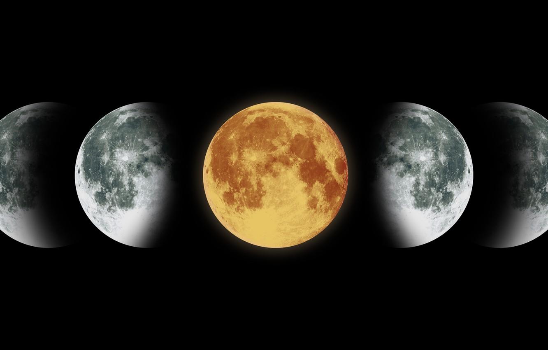 Photo wallpaper colors, moon, satellite
