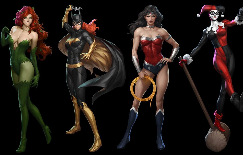 Photo wallpaper Gun, Heroes, Costume, Mask, Brunette, Hammer, Boots, Heroes, Cloak, Wonder Woman, Superheroes, Gun, Brunette, Red, …
