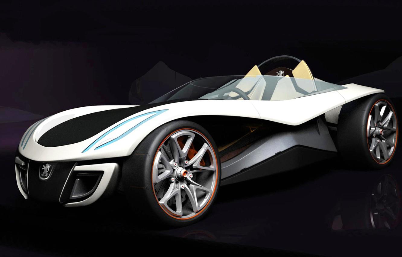 Photo wallpaper concept, Peugeot, Roadster, flux