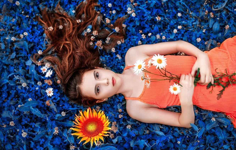 Wallpaper hair, weed, flowers, Sofia