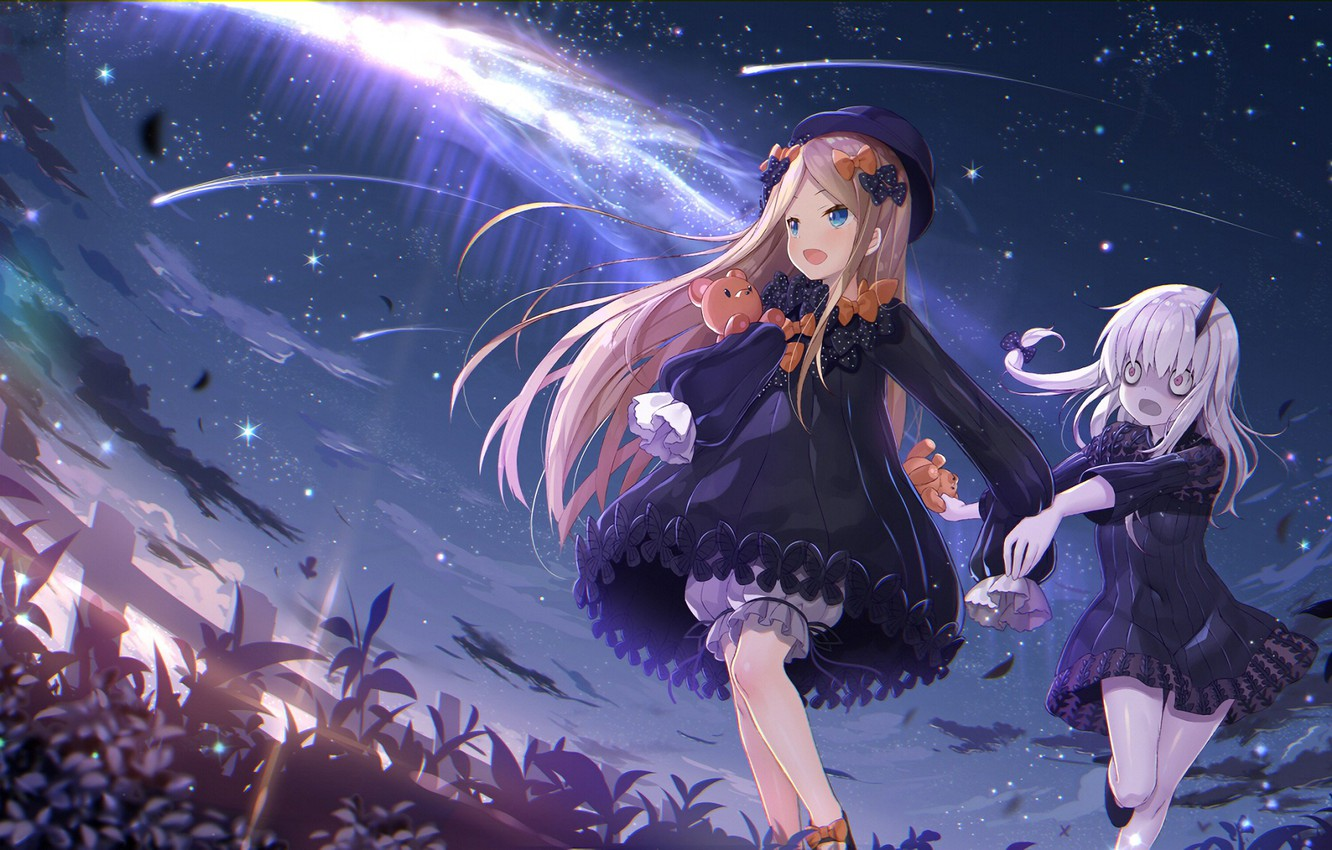 Wallpaper The Sky Girls Art Fate Grand Order Images For