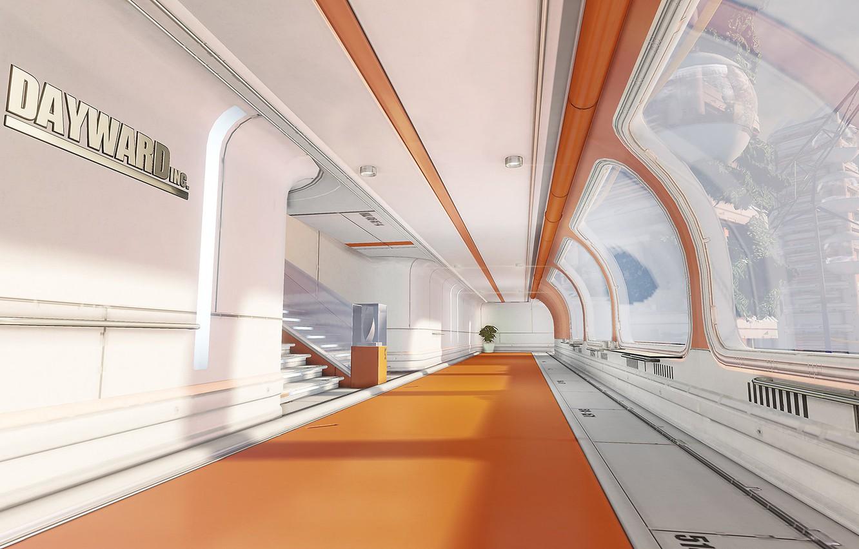 Photo wallpaper design, plant, corridor, Dayward Inc, One-Texture Environment