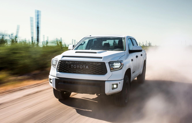 Photo wallpaper Toyota, pickup, TRD, Tundra, Pro, 2019, CrewMax