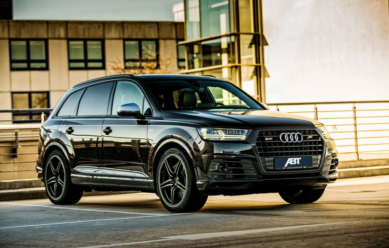 Photo wallpaper Audi, Audi, black, Black, crossover, ABBOT, SQ7