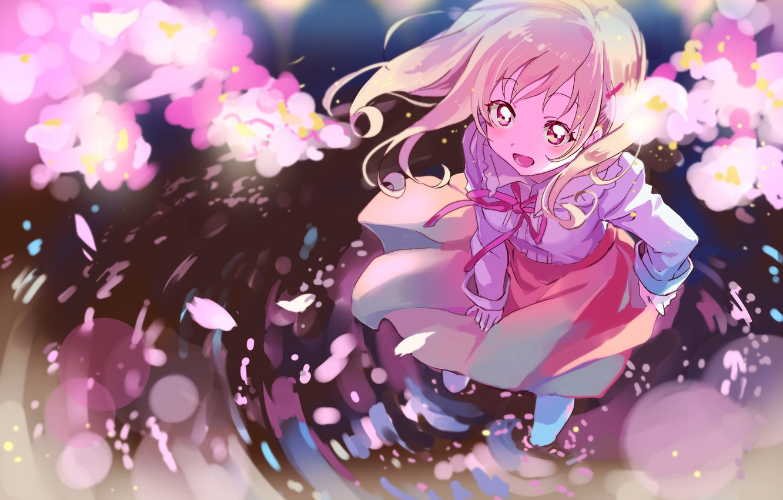 Photo wallpaper water, anime, girl