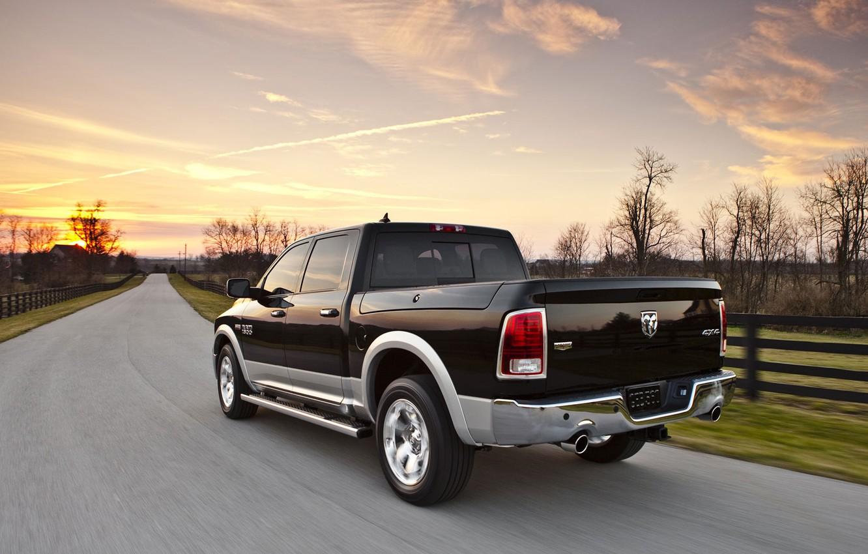 Photo wallpaper road, Dodge, pickup, 1500, Ram