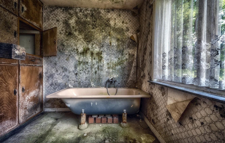 Photo wallpaper background, window, bath