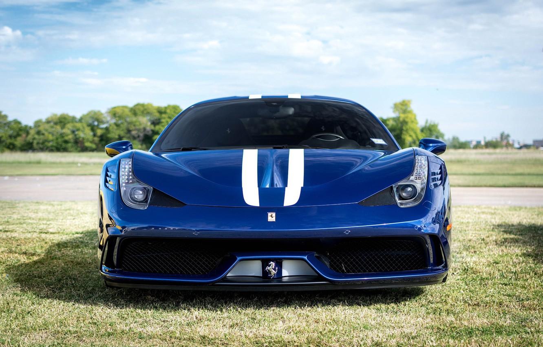 Photo wallpaper Ferrari, 458, front, view, Speciale