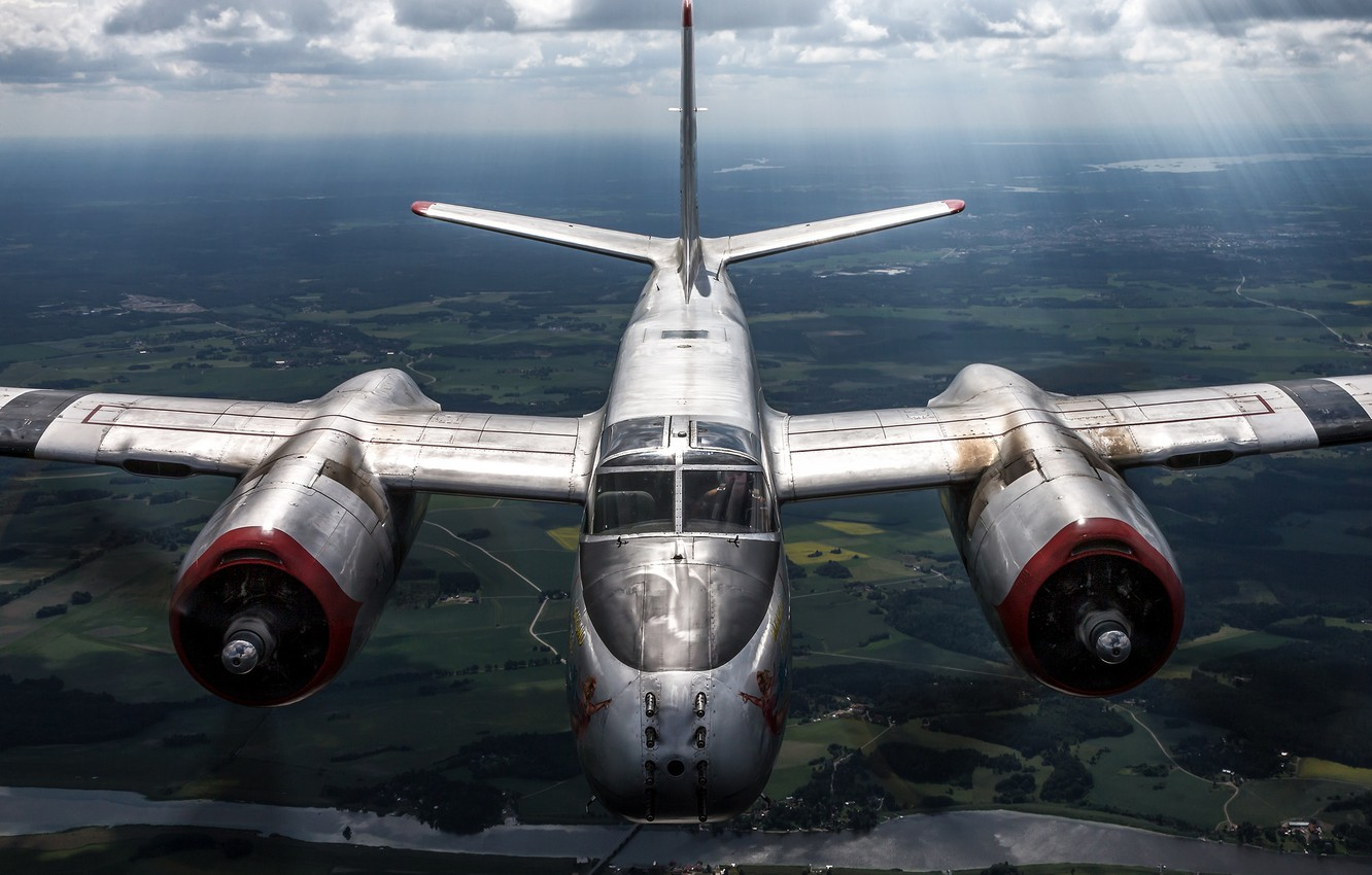 Photo wallpaper attack, American, Douglas, A-26B, middle bomber