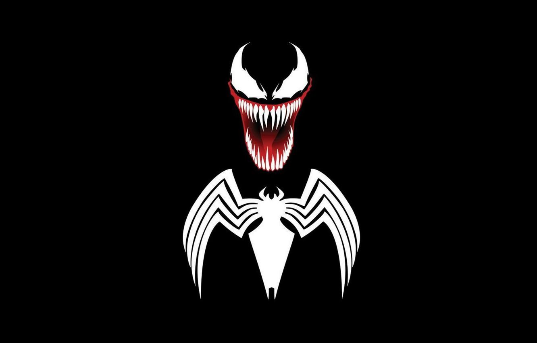 Photo wallpaper background, logo, symbol, venom, MARVEL, venom