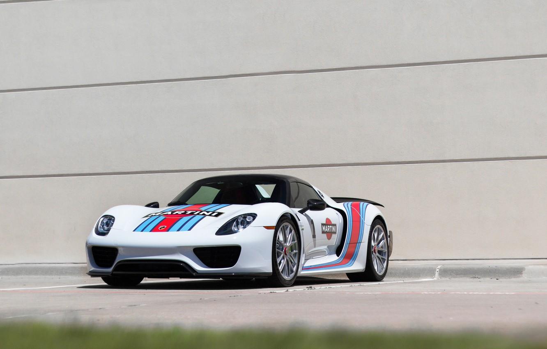Photo wallpaper Porsche, white, Spyder, 918, mrtini