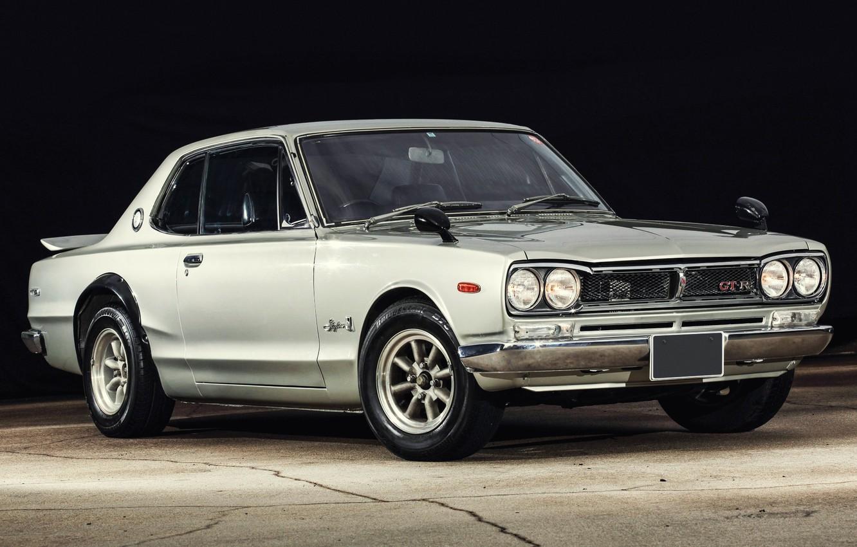 Photo wallpaper Auto, Machine, Grey, Nissan, Nissan, Lights, Car, 2000, Skyline, Nissan Skyline, 2000GT, Japanese, 2000GT-R, 2000 …