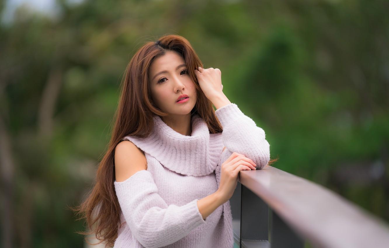 Photo wallpaper look, girl, sweetheart, hair, Asian
