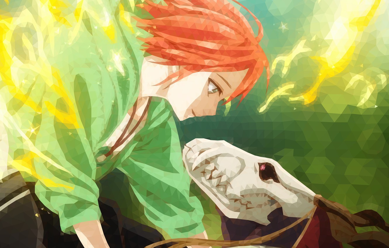 Wallpaper Girl Triangles Anime Art Fascinator Vector Graphics