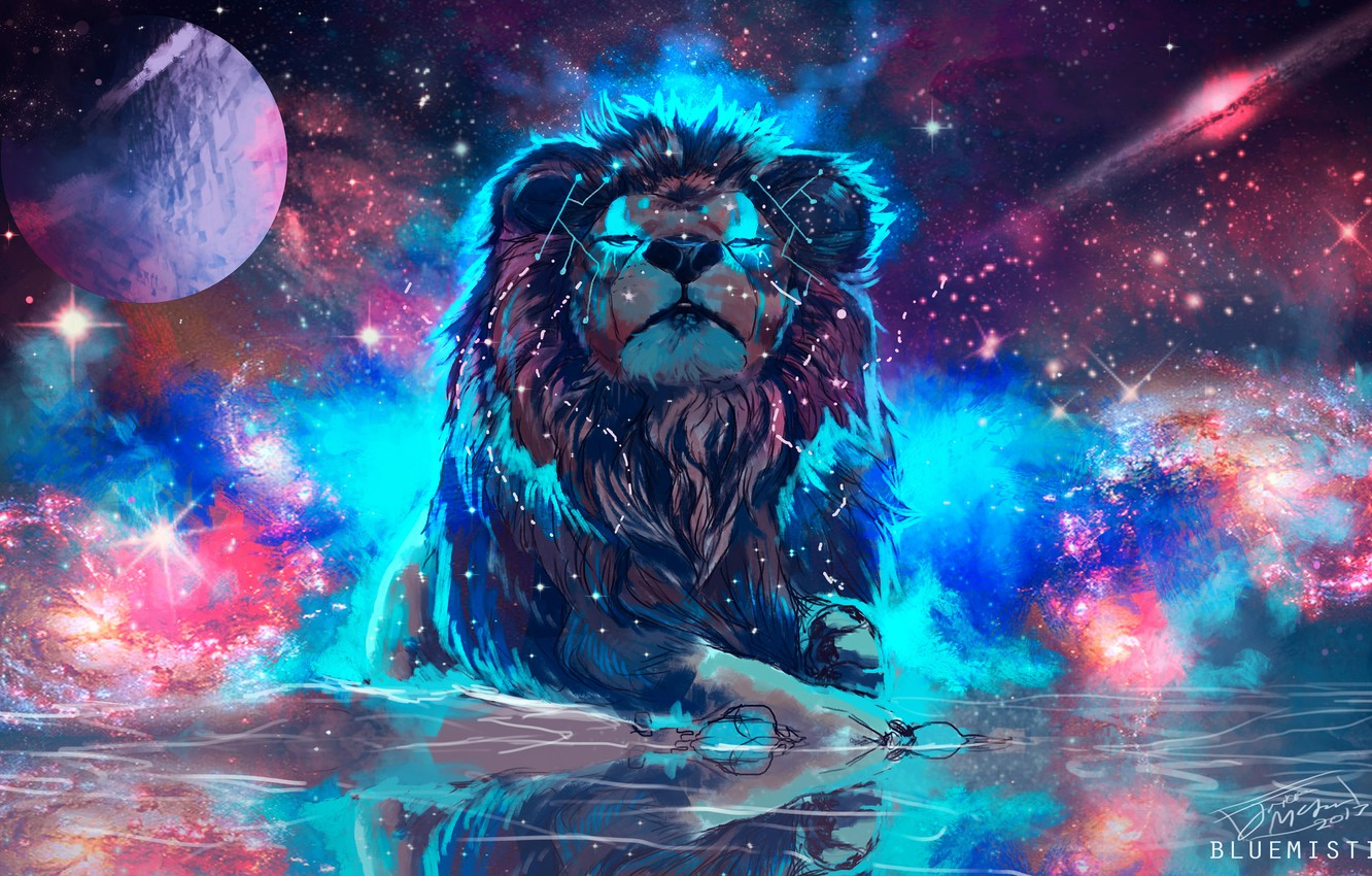 Wallpaper Space Leo Fiction By Bluemisti Images For