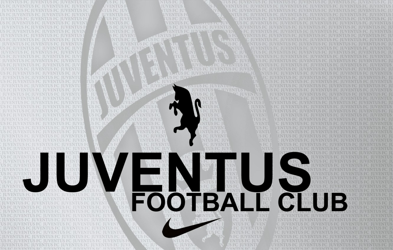 Photo wallpaper letters, Zebra, grey background, juventus_football_club