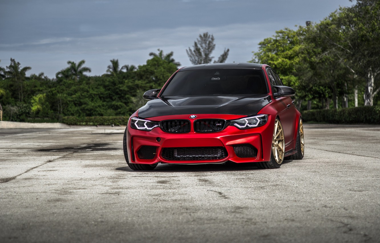 Photo wallpaper BMW, Carbon, RED, F80, Sight, LED, Evel