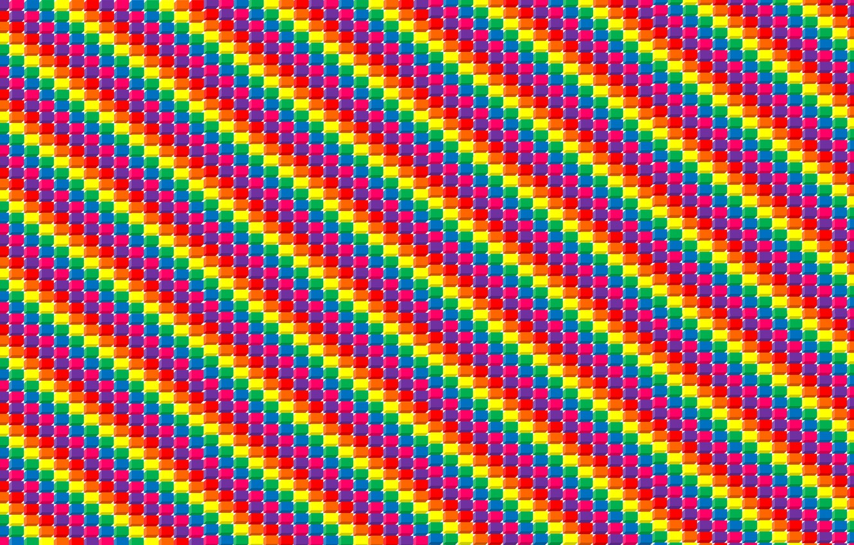 Photo wallpaper cubes, strip, art, colorful