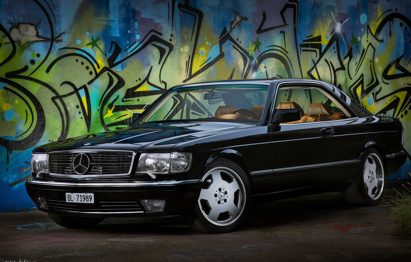 Photo wallpaper Mercedes - Benz, 560sec, c126