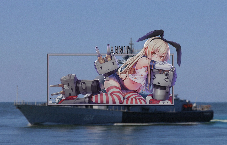 Photo wallpaper girl, ships, anime, destroyer, kantai collection, madskillz