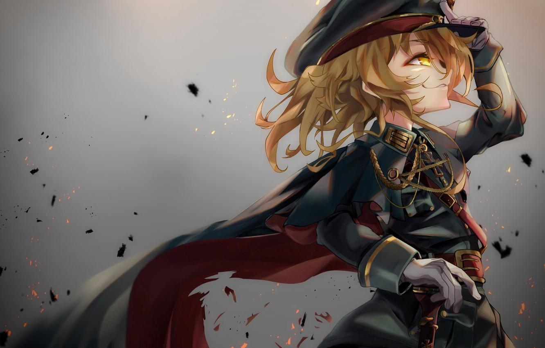 Wallpaper girl soldier military war anime blonde - Anime war wallpaper ...