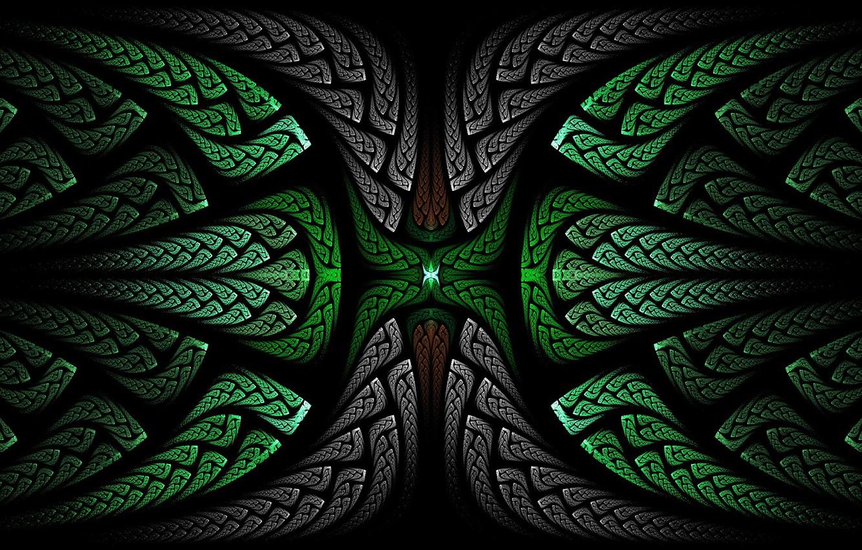 Photo wallpaper abstraction, rendering, art, fractal, 3D