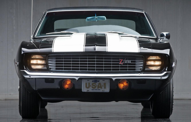 Photo wallpaper Chevrolet, 1969, Camaro, muscle car, classic, Z28