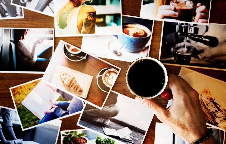 Photo wallpaper photo, hand, mug, bracelet