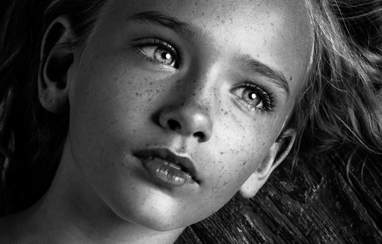 Photo wallpaper macro, portrait, girl, freckles, h\b, Megan Bloxham