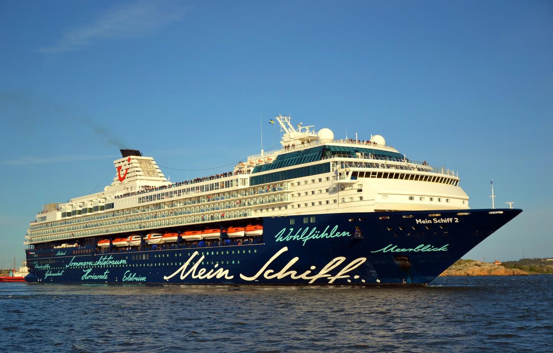 Photo wallpaper Sea, Liner, The ship, Passenger, Passenger liner, My, TUI Cruises, Royal Caribbean Cruises, TUI, Ship, …