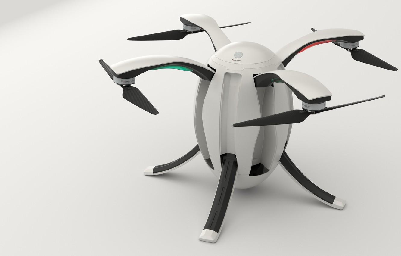 Photo wallpaper hi-tech, technology, drone, PowerEgg, quadricopter, 4 screws