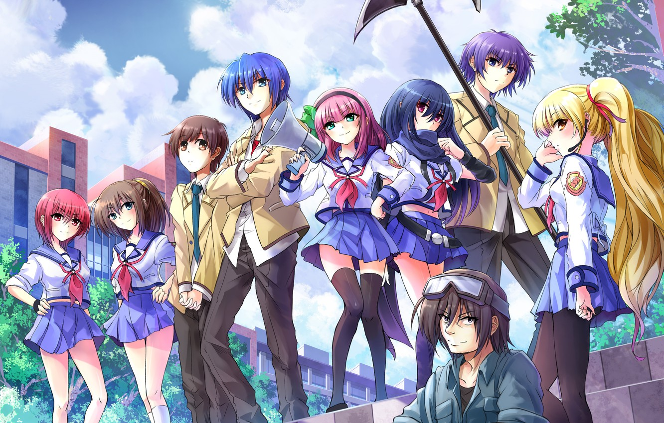 Wallpaper Anime Art Characters Angel Beats Images For