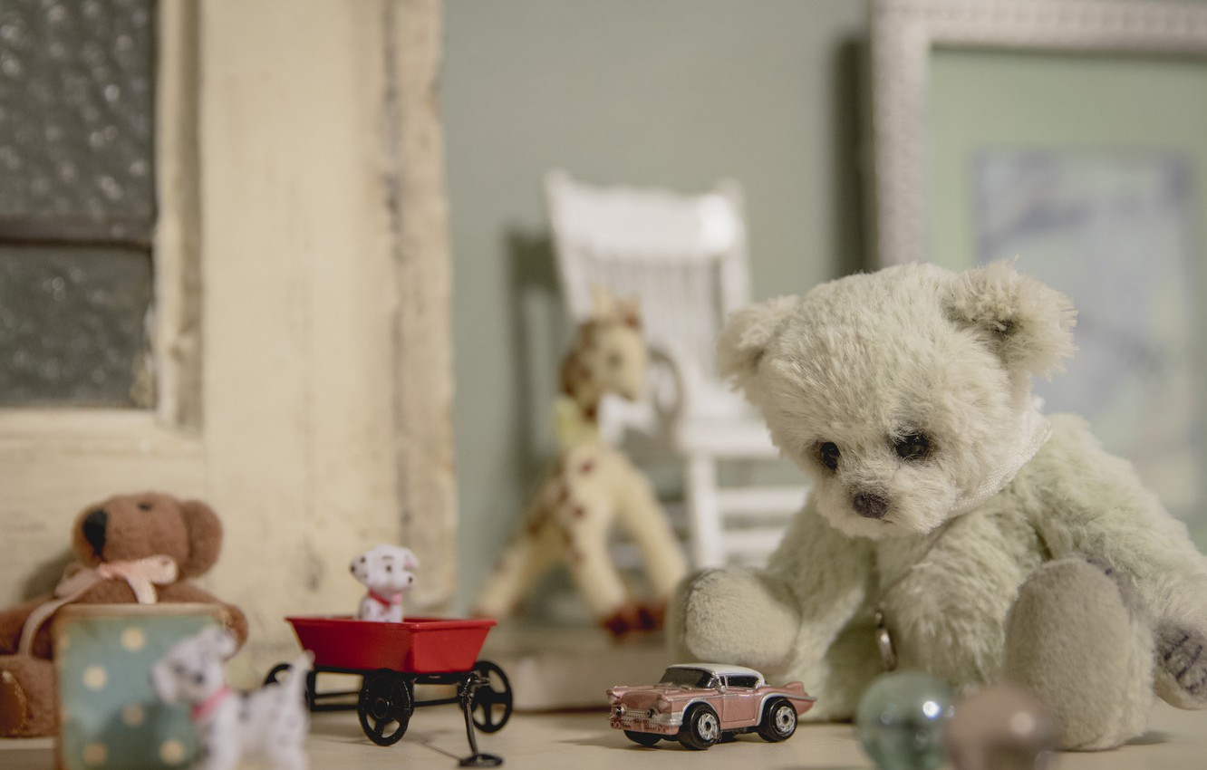 Wallpaper Toys Bear Machine Vintage Dogs Teddy Bear Images For