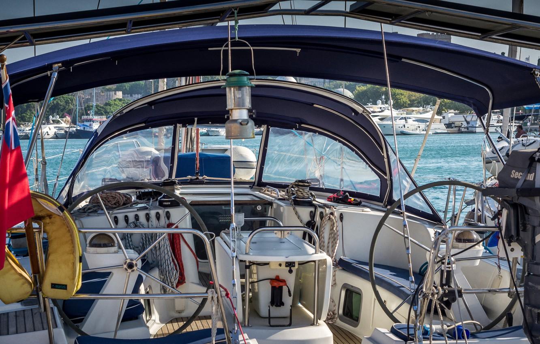 Photo wallpaper sea, interior, yacht